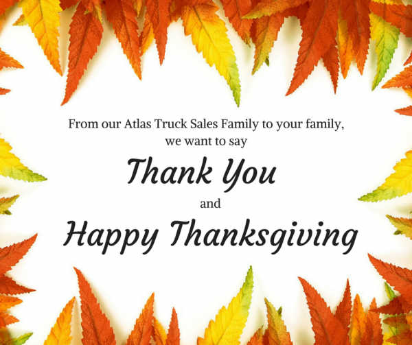 Atlas Truck Sales Happy Thanksgiving