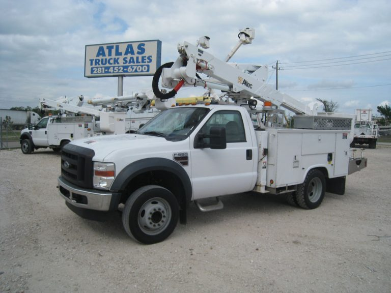 Two Altec Bucket trucks for sale.