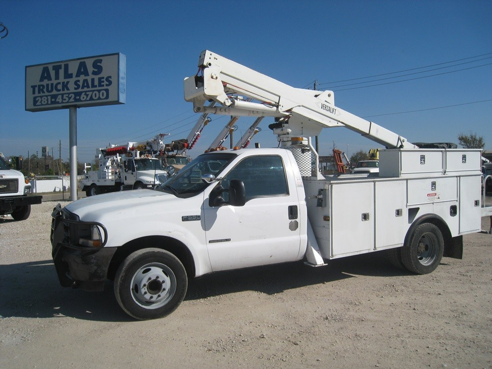 Bucket Truck with Brush Guard.