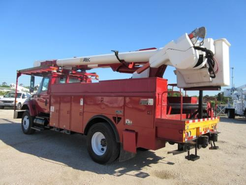 Red International Bucket Truck.
