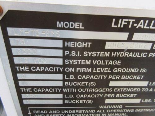 bucket truck details.